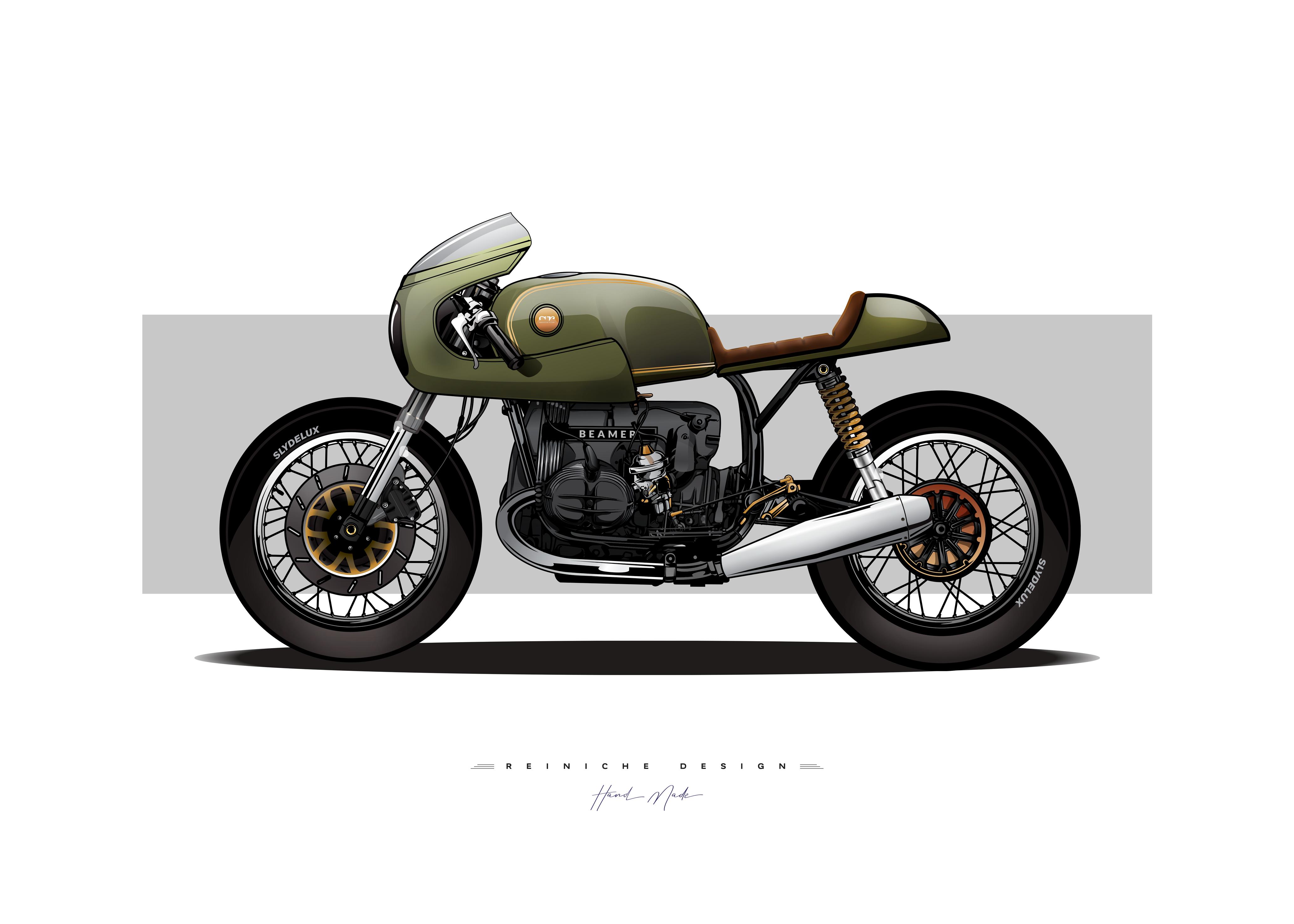 Moto Bmw R100 Cafe Racer 1984 Slydelux Designer Photographer Illustrator